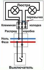 Три и более провода на люстре и два провода на потолке