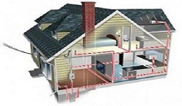 схема проводки в частном доме