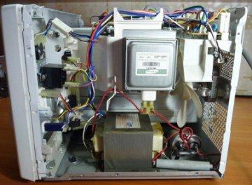 Основные принципы ремонта микроволновой печи