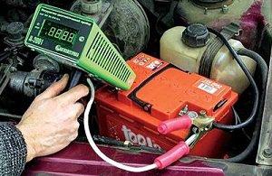 проверка аккумулятора нагрузочной вилкой