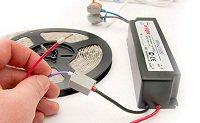 монтаж и подключение светодиодной ленты