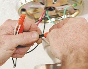 прокладка проводов для точечных светильников