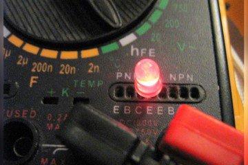 проверка светодиода мультиметром