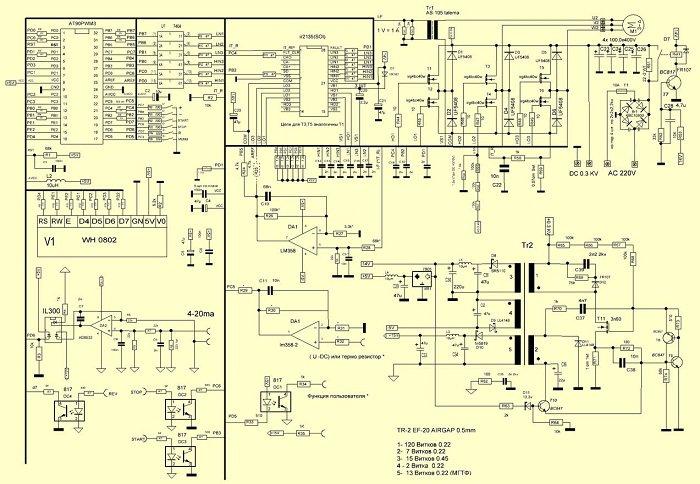 схема частотный преобразователь для электродвигателя