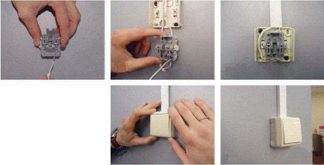 установка наружного выключателя