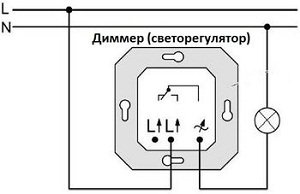 диммер для ламп накаливания схема