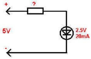 расчет резистора для подключения светодиодов
