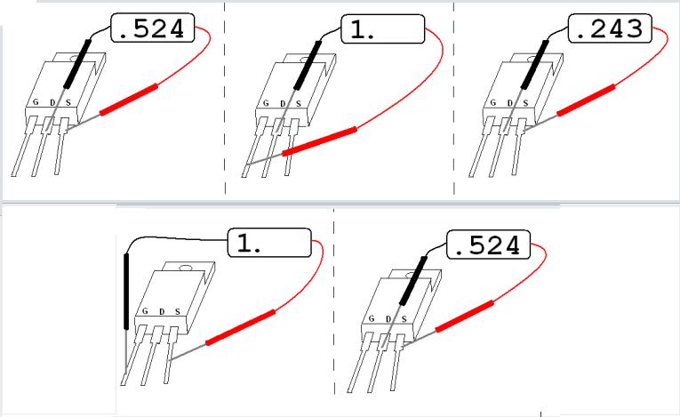 схема проверки полевого транзистора