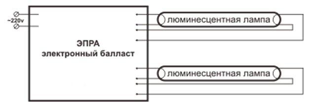 схемы электронных балластов люминесцентных ламп