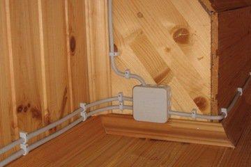 Схема электропроводки дома бани