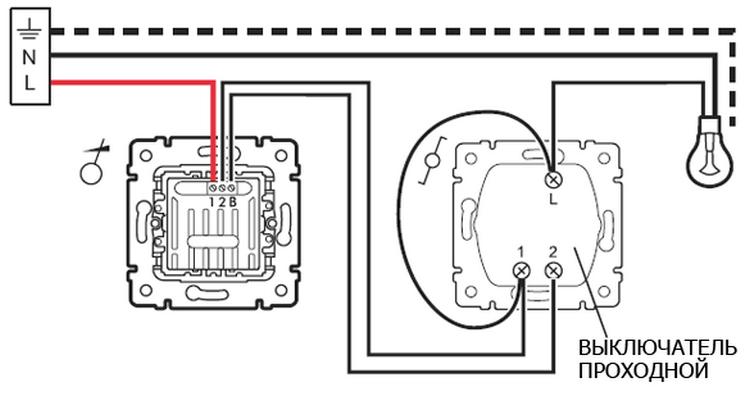 План установки переключателя со светорегулятором